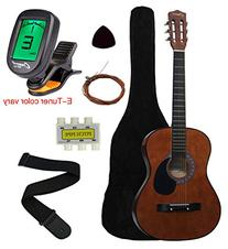 "Crescent MG38-CF 38"" Acoustic Guitar Starter Package, COFFEE"