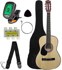 "Crescent MG38-NR 38"" Acoustic Guitar Starter Package,"