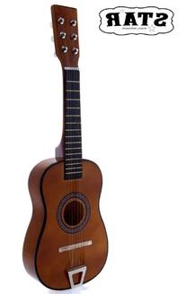 Star MG50-BW Kids Acoustic Toy Guitar 23-Inches, Brown Color