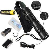 Nitecore MH10 USB Rechargeable Flashlight CREE XM-L2 U2