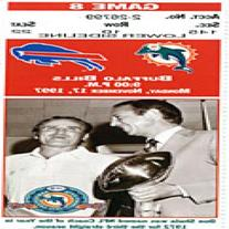 Miami Dolphins vs. Buffalo Bills november 17 1997 Ticket