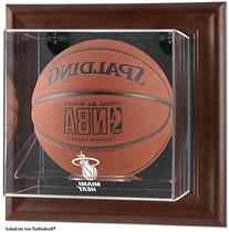 Miami Heat Brown Framed Wall Mounted Basketball Case