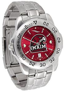 Miami  RedHawks Sport Steel Band Ano-Chrome Men's Watch