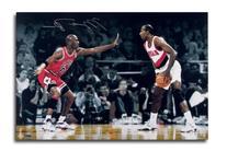 "Michael Jordan Autographed Chicago Bulls ""Faceoff vs."