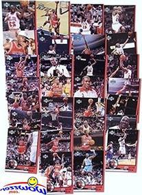 Michael Jordan Complete 30 Card Upper Deck Career Tribute