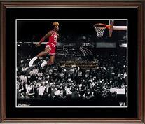 Michael Jordan UDA Signed Inscribed 16x20 Framed Photo