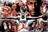 Michael Jordan Wings Collage Vintage Sports Poster Print by