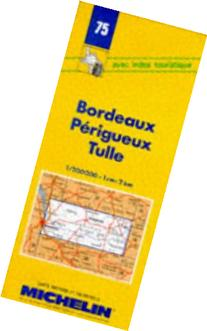 Michelin Bordeaux/Perigueux/Tulle, France Map No. 75