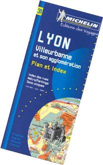 Michelin Lyon Street with index Map No. 31