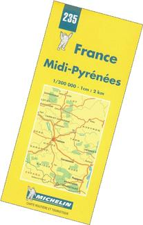 Michelin Midi-Pyrenees, France Map No. 235