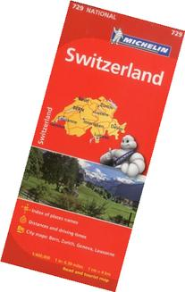 Michelin Switzerland Map 729