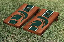 Michigan State Spartans Cornhole Game Set Rosewood Stained