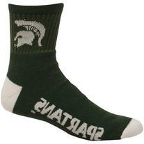 NCAA Michigan State Spartans Team Quarter Socks, Medium
