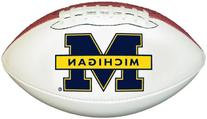 Michigan Wolverines Official Size Synthetic Leather