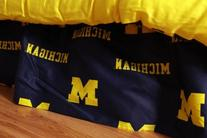 College Covers Michigan Wolverines Printed Dust Ruffle,