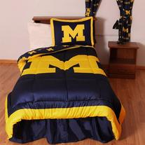 College Covers Michigan Wolverines Reversible Comforter Set