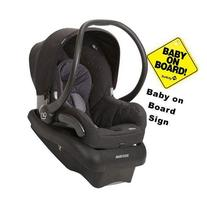 Maxi-Cosi Mico Infant Car Seat w/Baby on Board Sign - Total