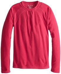 Terramar Girl's Micro Polyester Fleece Crew Top, Cosmo,