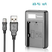 Neewer Micro USB Battery Charger for LP-E6 Rechargeable