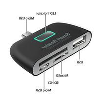 Micro USB OTG Adapter by LDesign 4-In-1 Micro SD Card Reader