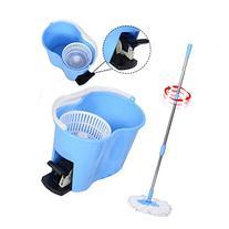 Super buy Microfiber Spinning Mop Easy Floor Mop W/Bucket 2