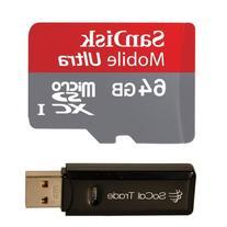 1 X 64GB SanDisk MicroSD HC XC MicroSDXC Class 10 Memory