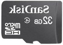 Sandisk 32GB MicroSDHC Class 4  Memory Card & MicroSDHC Card