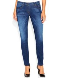 GUESS Mid-Rise Power Curvy Skinny Jeans, Reller Wash