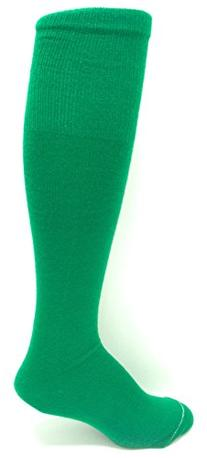 Midweight Solid-Color Tube-sock, Kelly, Adult