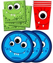 Mighty Monster Birthday Party Supplies Set Plates Napkins