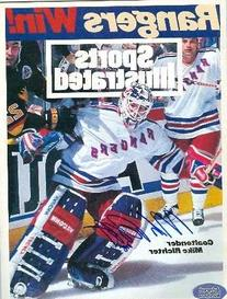 Mike Richter autographed Sports Illustrated Magazine