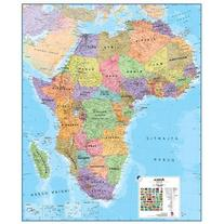 Maps International MILAFRICA Africa 1 to 8 Laminated Wall