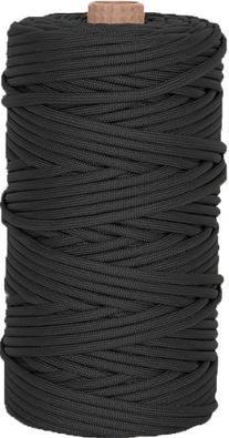 Paracord 550lb Nylon 300 Feet Tube / Black