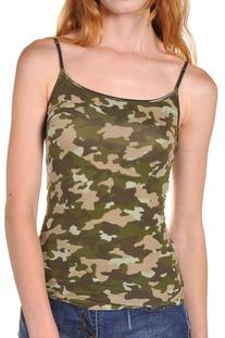 Beachcoco Women's Military Army Print Camisole Tank Top