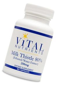 Vital Nutrients - Milk Thistle Extract  250 mg - Supports