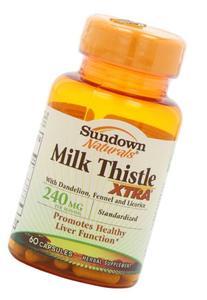 Sundown Naturals Milk Thistle XTRA 240 mg, 60 Capsules