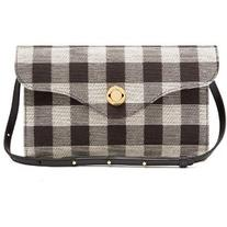 Mansur Gavriel Mini Baguette gingham shoulder bag
