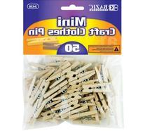 Bazic Mini Natural Clothespins - 50/Pack