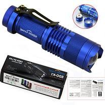 7W 300LM Mini CREE LED Flashlight Torch Adjustable Focus