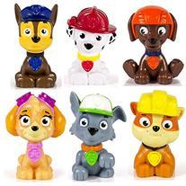 Paw Patrol Mini Figures Set of 6 - Rocky, Zuma, Skye, Rubble