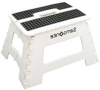 Samsonite Mini Folding Step Stool, White/Black