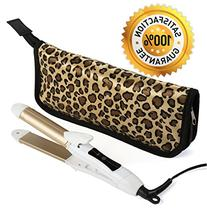 2-in-1 Mini Hair Straightener Travel Curling Iron Flat Iron