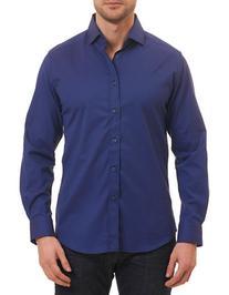 Robert Graham Mini Houndstooth Woven Shirt-NAVY-Medium
