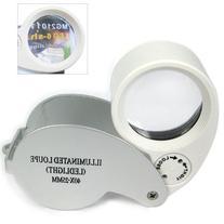 Leegoal 40X Mini Magnifier Magnifying Glass LED Illuminate