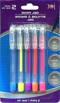 Mini Neon Gel Pens, Pack of 5 Colors