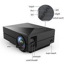 Mileagea GM60 Mini LED Projector 800*480 Hd 1000 Lumens