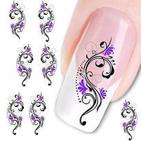 Sannysis Mini Slide Decal Sticker Nail Art Tips Toe Decor