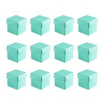 Mini Small Square Cube Robin's Egg Blue Gift Boxes with Lids