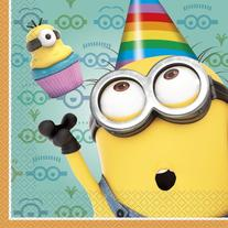 Minions Lunch Napkins : package of 16