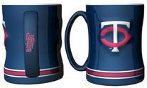 Minnesota Twins Navy Blue 15oz. Ceramic Relief Mug